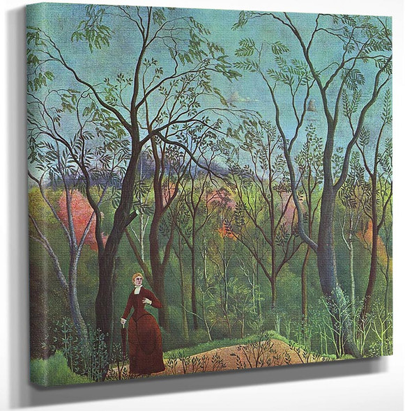 The Walk In The Forest 1890 By Henri Rousseau Art Reproduction from Wanford.
