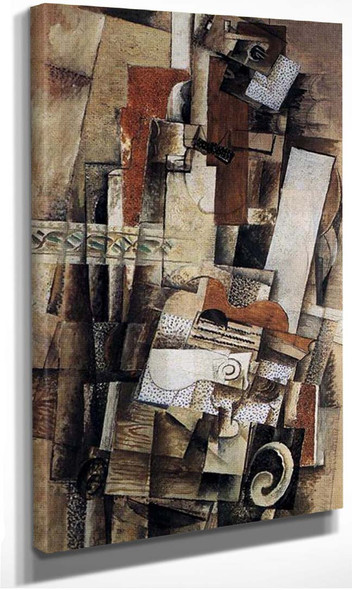 Man With A Guitar 1914 By Georges Braque