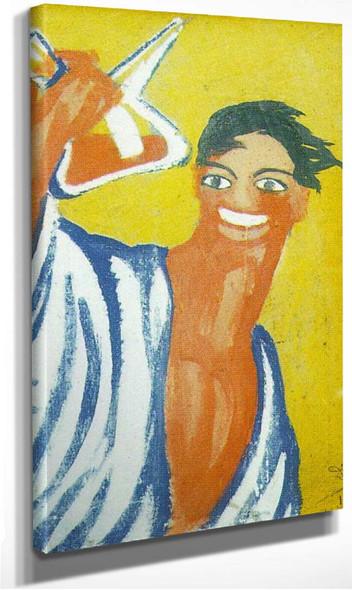 Man With Porron By Salvador Dali