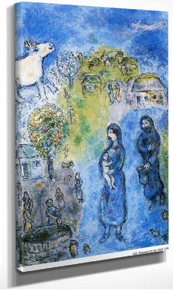 Peasants By The Well 1981 By Marc Chagall