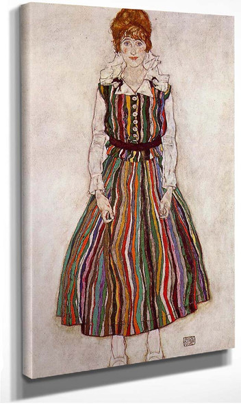 Portrait Of Edith Schiele The By S Wife 1915 By Egon Schiele