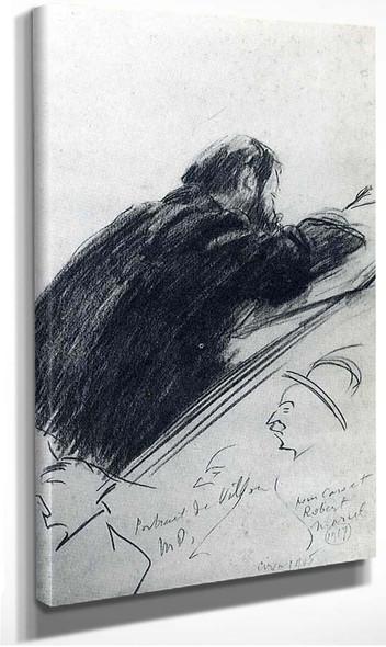 Portrait Of Jacques Villon By Duchamp Marcel