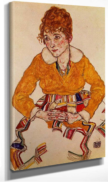 Portrait Of The By S Wife 1917 By Egon Schiele