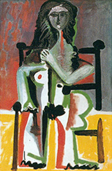 Seated Nude In An Armchair By By Pablo Picasso Art Reproduction from Wanford