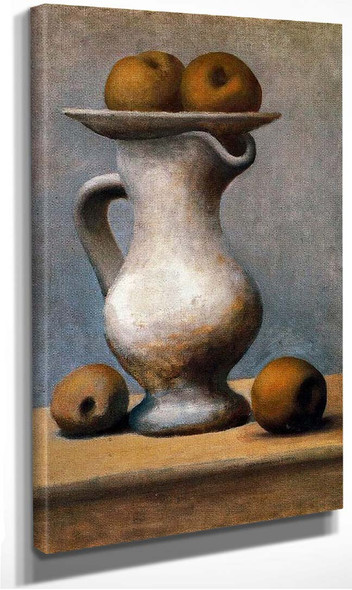 Still Life With Pitcher And Apples 1919 By Pablo Picasso