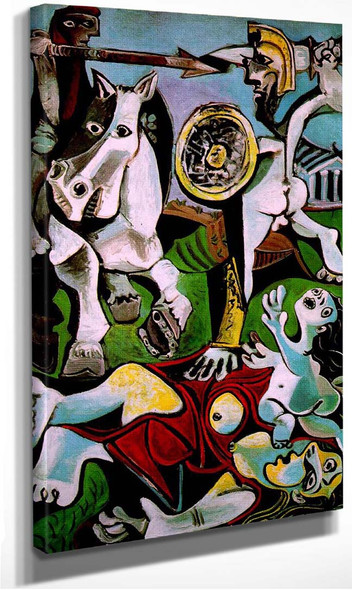 The Abduction Of Sabines 1963 By Pablo Picasso