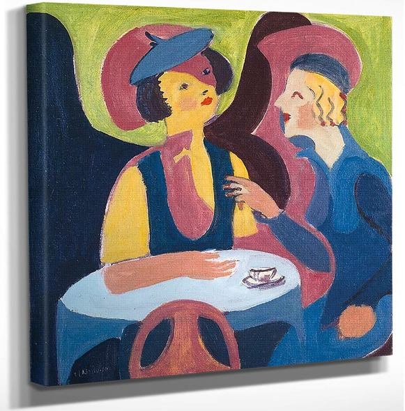 Two Women In A Cafe 1929 By Ernst Ludwig Kirchner Art Reproduction from Wanford.