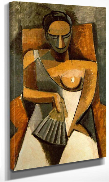 Woman With A Fan 1907 By Pablo Picasso
