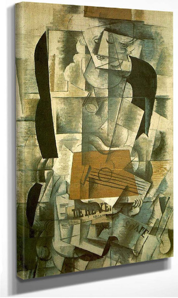 Woman With A Guitar 1913 By Georges Braque