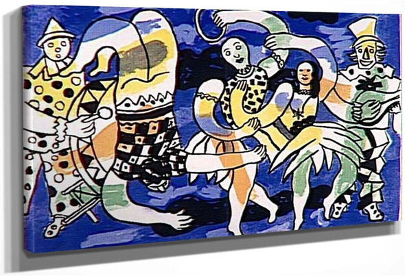 Acrobats And Clowns 1950 By Fernand Leger