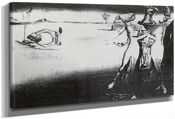 Apparition Of A Couple In The Desert By Salvador Dali