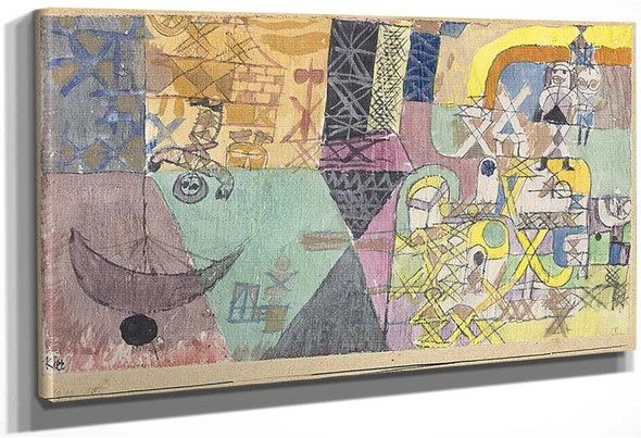 Asian Entertainers 1919 By Paul Klee