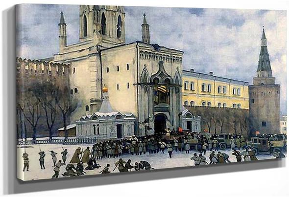Assault On The Kremlin In 1917 1951 By Konstantin Yuon