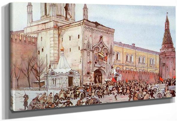 Before Entering Into Kremlin Nikolsky Gate 2 15 November 1917 1926 By Konstantin Yuon
