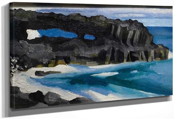 Black Lava Bridge Hana Coast No Ii By Georgia O Keeffe