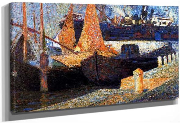 Boats In Sunlight 1907 By Umberto Boccioni