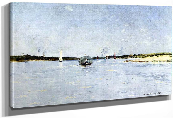 Boats On The Loire By Maxime Maufra