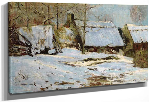 Cabins Under Snow By Maxime Maufra