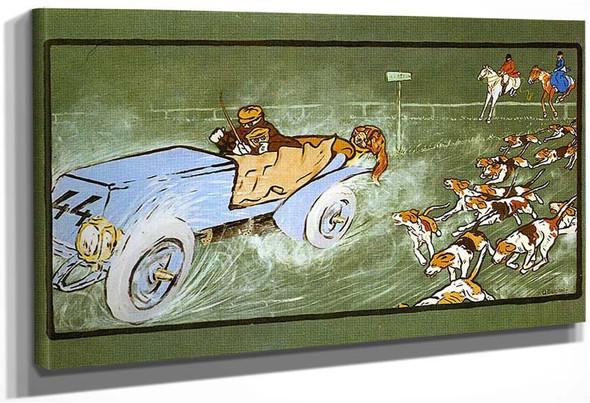 Car And Hunting Fox 1904 By Umberto Boccioni