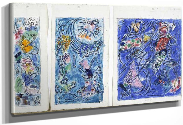 Creation Of World 1971 By Marc Chagall