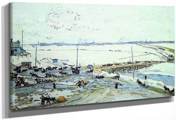 Crossing Through Oka Nizhny Novgorod 1909 1 By Konstantin Yuon