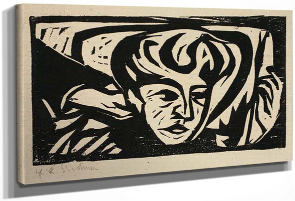 Dodo Head On Pillow By Ernst Ludwig Kirchner