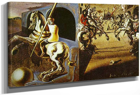 Equestrian Parade Possibly Set Design For Romeo And Juliet By Salvador Dali