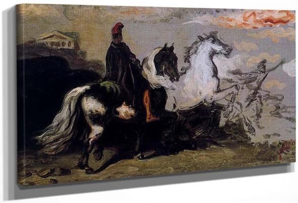 Horse With Rider By Giorgio De Chirico