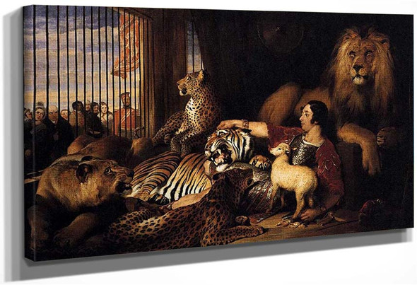 Isaac Van Amburgh And His Animals By Landseer Sir Edwin Henry