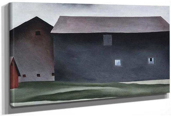 Lake George Barns By Georgia O Keeffe
