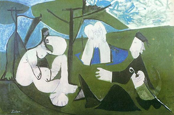 Le Dejeuner Sur Pherbe By By Pablo Picasso