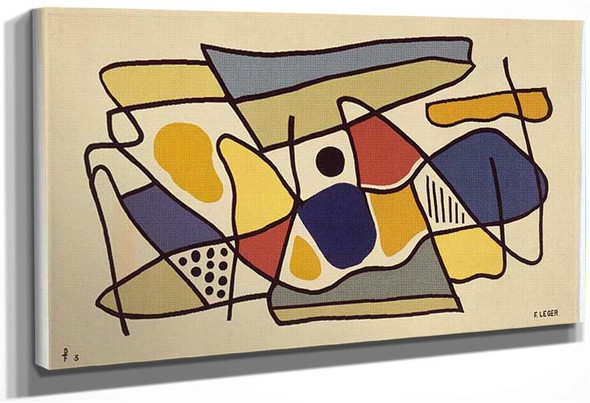 Mural Mural Or Composition Or Abstract Composition By Fernand Leger