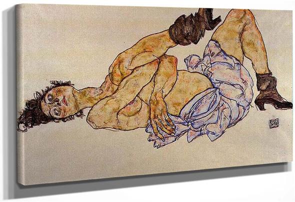 Reclining Female Nude 1917 By Egon Schiele