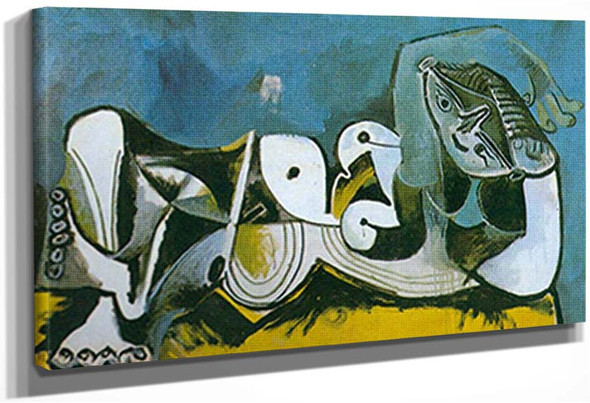 Reclining Nude By 3 By Pablo Picasso
