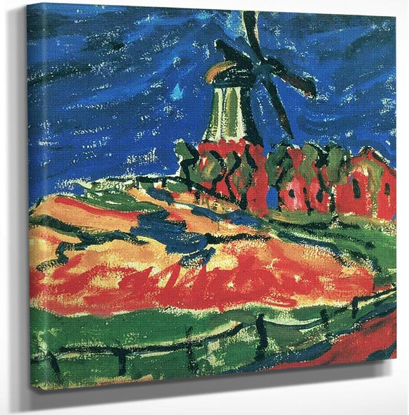 Windmill Dangast by Erich Heckel Art Reproduction from Wanford.