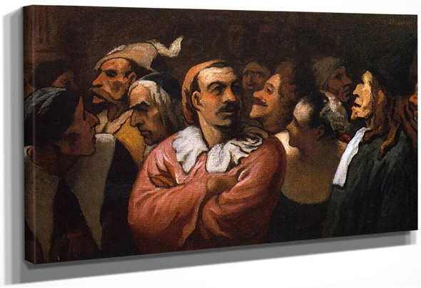 The Ancient Comedie Francaise By Daumier Honore