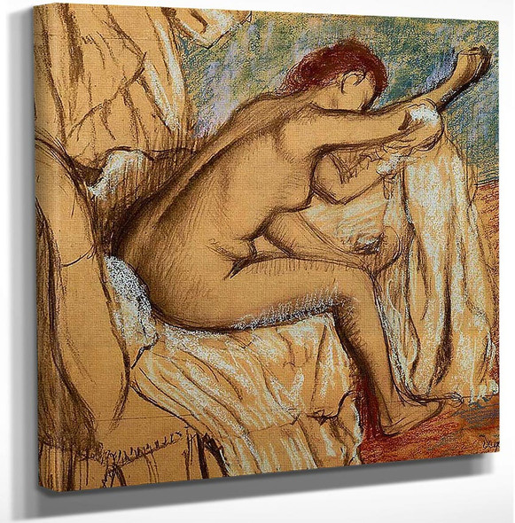 Woman Drying Herself By Edgar Degas Art Reproduction from Wanford.