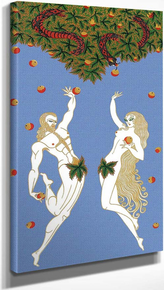 Adam And Eve By Erte