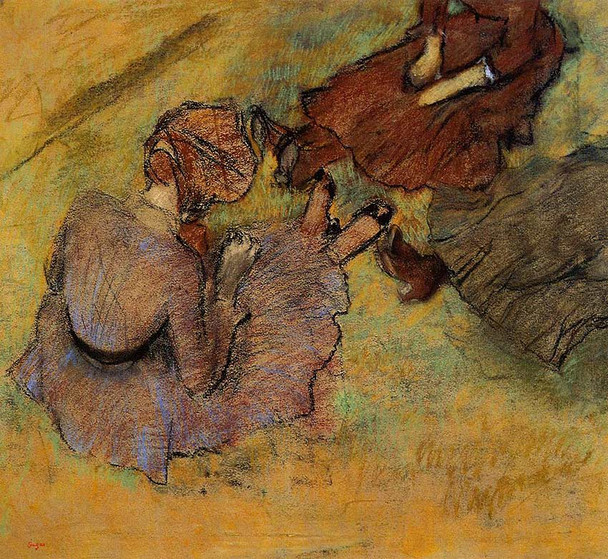 Woman Seated On The Grass 1882 By Edgar Degas Art Reproduction from Wanford.