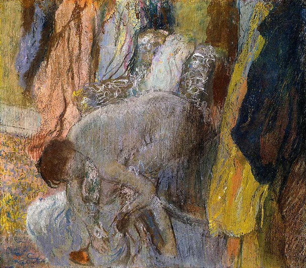 Woman Washing Her Feet By Edgar Degas Art Reproduction from Wanford.
