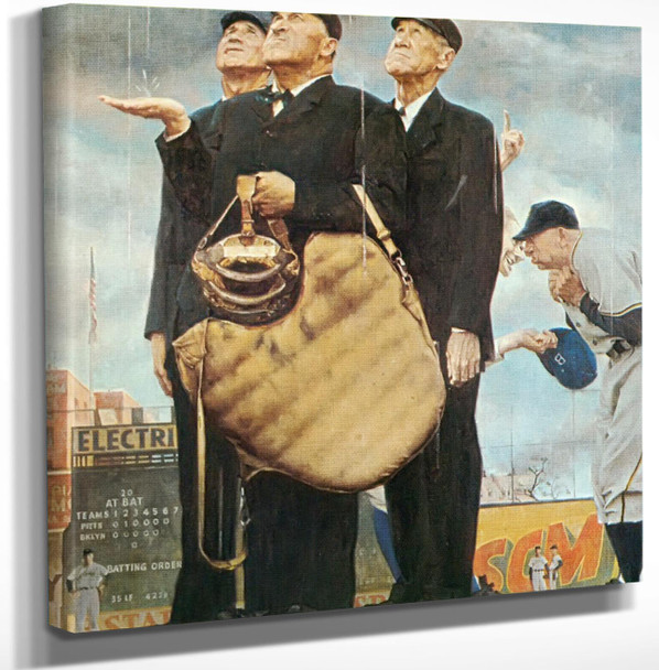 Game Called Because Of Rain by Norman Rockwell