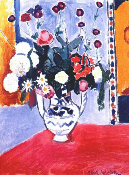 A Bunch Of Flowers 1907 By Henri Matisse Art Reproduction from Wanford