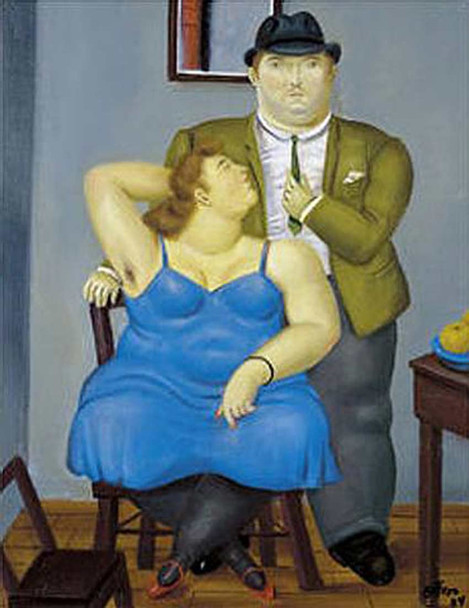 A Couple2 By Fernando Botero Art Reproduction from Wanford