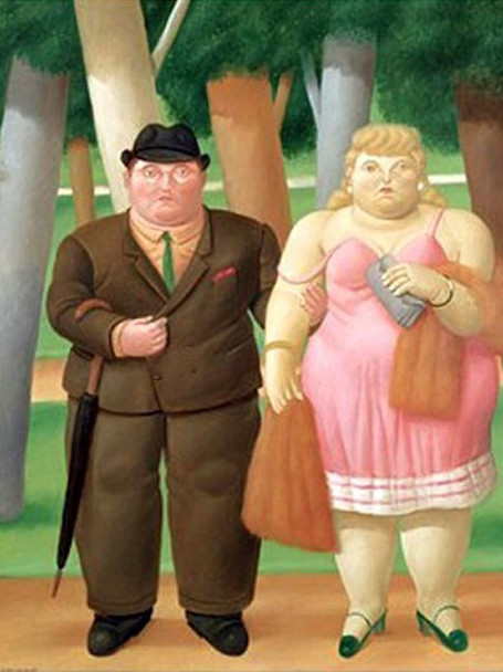 A Couple5 By Fernando Botero Art Reproduction from Wanford
