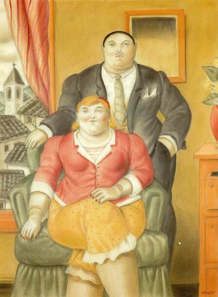 A Couple By Fernando Botero Art Reproduction from Wanford