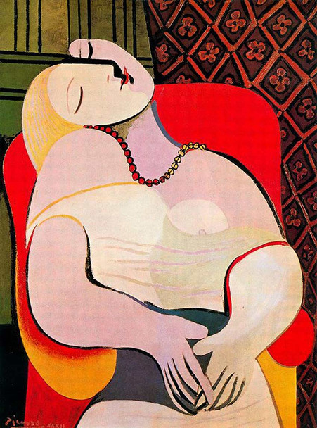 A Dream 1932 By Pablo Picasso Art Reproduction from Wanford