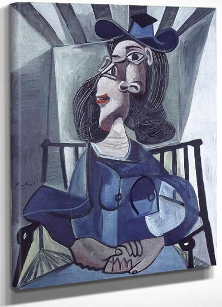1942 Woman With Hat Seated In An Armchair by Picasso