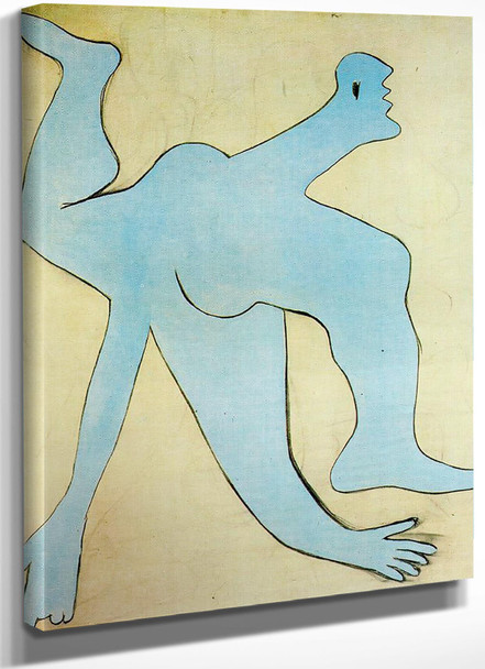 A Blue Acrobat 162x130 by Picasso
