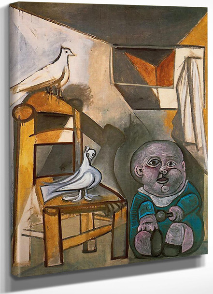 A Child With Pigeons 162x130 by Picasso