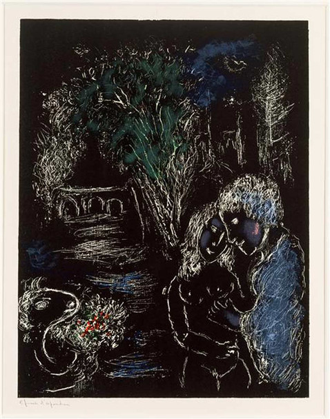 A Green Tree With Lovers 1980 By Marc Chagall Art Reproduction from Wanford